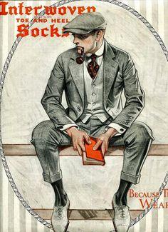Mode Vintage, Vintage Ads, Vintage Prom, Style Vintage Hommes, Anjou Velo Vintage, Jc Leyendecker, American Illustration, Poses References, Man Smoking
