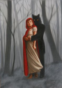 """Little Red Riding Hood"", Isabel Samaras, Illustrations, Illustration Art, Red Ridding Hood, Red Riding Hood Wolf, Charles Perrault, Big Bad Wolf, Red Hood, Samara, Little Red"