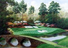 Charles Beck Picture 12th hold at Augusta National Golf Course