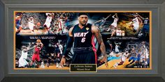 Lebron James Signed Panorama Framed