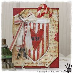 CHA Tim Holtz Idea-ology and Sizzix: Wish Pocket Christmas Card — Tammy Tutterow Designs