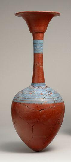 Water Bottle from Tutankhamun's Embalming Cache - New Kingdom Dynasty: Dynasty 18 Reign: reign of Tutankhamun, ca. 1336–1327 B.C.