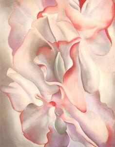 "O'Keeffe: Pink Sweet Peas, 1927, (pastel/paper, 28 x 21"")"