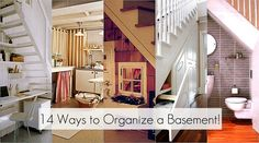 14 ways to organize a basement