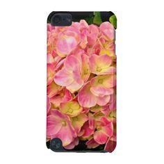 Pink Hydrangea iPod Touch 5g Case #zazzle #pink #hydrangea #flowers #ipod #case  http://www.zazzle.com/zazzleelectronics?rf=238170457442240176