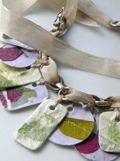 paper and mod podge charm bracelet