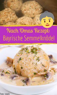 Bayrische Semmelknödel Bavarian bread dumplings according to grandma's recipe Vegetarian Recipes Dinner, Easy Chicken Recipes, Healthy Chicken Recipes, Easy Healthy Recipes, Crockpot Recipes, Easy Meals, Dinner Recipes, Dinner Crockpot, Keto Chicken