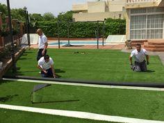 instalando cesped artificial en Aranjuez.