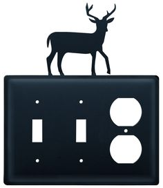 Now available at www.thecrookedwood.com - Deer - Double Swi....  Click here to shop: http://thecrookedwood.com/products/deer-double-switch-single-outlet-cover?utm_campaign=social_autopilot&utm_source=pin&utm_medium=pin