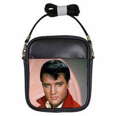 ELVIS PRESLEY STUNNING Leather Sling Bag Small Purse #Svejdaland #ShoulderBag