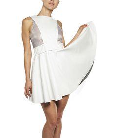 Loving this Bone & Gray Texture Sleeveless Dress on #zulily! #zulilyfinds