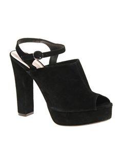 ASOS HELSA Suede Strap and Peep Toe Platform Sandals £60.00