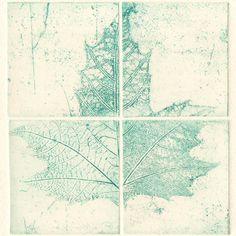 Original Etching Printmaking MAPLE LEAF Botanical by AnaDoraArt
