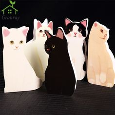Cute Cat Folding Greeting Card Birthday Cards With Envelope Writing Paper Gifts Festival Postcard 10 Pcs/Lot Free Shipping