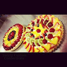 Fresh fruit tarts www.swirlzcustomconfections.com