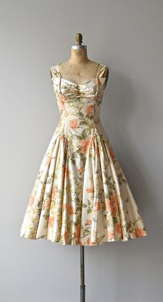 Vintage 50s Dress | 1950s atomic barkcloth dress | large lg | 5940 ...
