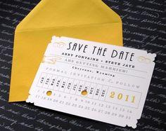 Foto 9 de 18 Un color osado y una forma original de adelantar la fecha de la boda. Invitaciones de boda. Imagen:   HISPABODAS