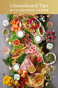 Trying to decide on what to serve for your guests? How about just serve everything? With a table full of Boursin cheese, you& sure to have a great weekend. Boursin Cheese, Appetizer Recipes, Salad Recipes, Dinner Recipes, Appetizers, Dinner Ideas, Brunch Mesa, Charcuterie And Cheese Board, Tips