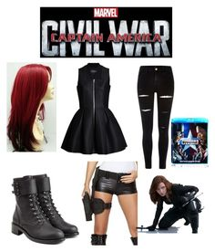 """""""Black Widow"""" by peyton-ray ❤ liked on Polyvore featuring art, contestentry and CaptainAmericaCivilWar"""