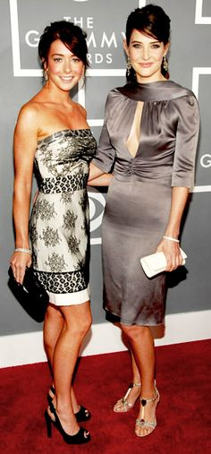 How I Met Your Mother - Alyson Hannigan & Cobie Smulders Cobie Smulders, Alyson Hannigan, Famous Duos, Fashion Figures, Himym, How I Met Your Mother, Shows, Celebrity Look, Woman Crush