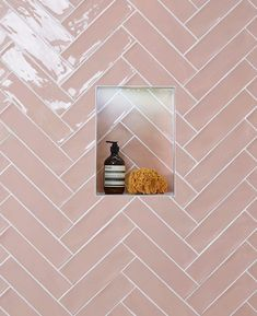 Shower Niche Trends : Modern shower niches, two tone shower niches and using accent tile in your shower niche will give your shower a great WOW factor. Ikea Bathroom, Bathroom Plants, Family Bathroom, Small Bathroom, Bathroom Fixtures, Loft Bathroom, Modern Shower, Modern Bathroom, 1930s Bathroom