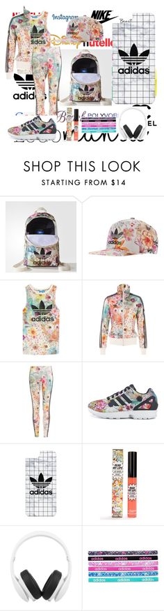 """""""Logo Mania #1 : Adidas"""" by blue99star on Polyvore featuring NIKE, Disney, ban.do, adidas, Chanel, adidas Originals, Casetify, TheBalm, Monster and floral"""