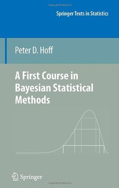 A First Course in Bayesian Statistical Methods (Springer Texts in Statistics) by Peter D. Hoff http://www.amazon.com/dp/0387922997/ref=cm_sw_r_pi_dp_Oevzub0A3J0MM