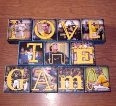 I love this idea!!! Going to do this with my team soccer photos!!