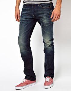 Replay Jeans Waitom Straight Fit Dark Blue Rinse