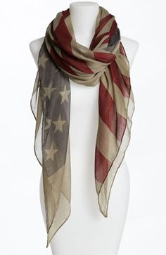 American Flag Sheer Scarf