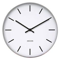 Buy Karlsson Station Classic Wall Clock from our Wall Clocks range at Red Candy, home of quirky decor. FREE DELIVERY over Train Station Clock, White Wall Clocks, Classic Clocks, Interior Design Process, Quirky Decor, Tabletop Clocks, Wall Clock Design, Classic White, White Walls