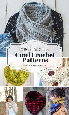 15 free cowl crochet patterns. These make wonderful gifts and fashion statements.