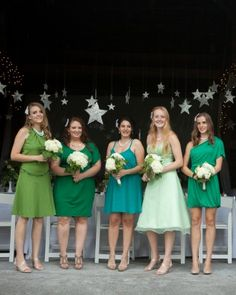 """See the """"Bridesmaids in Green"""" in our  gallery"""