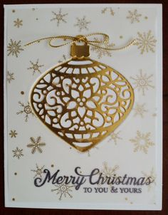 This fancy aperture card was made with the Embellished Ornaments Stamp Set and…