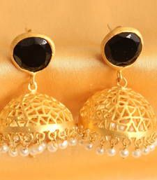 Black friday deals and offers mirraw Buy Black Agate jhumkas jhumka online Black Agate, Imitation Jewelry, Shopping Day, Wedding Jewelry Sets, Black Friday Deals, Jewels, Drop Earrings, Stuff To Buy, Women