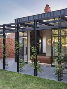 Integrated Outdoor Living with Five Leading Australian Architects Outdoor Areas, Outdoor Rooms, Outdoor Structures, Outdoor Pergola, Outdoor Kitchens, Recycled Brick, Edwardian House, Outdoor Entertaining, Backyard Landscaping