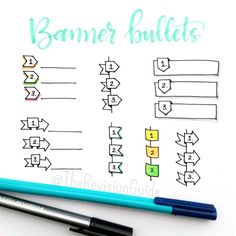 "Drawing & DIY - ""How to draw banners."" sketch note doodles for Bullet Journal Bullet Journal Inspo, My Journal, Journal Prompts, Bullet Journals, Draw Tutorial, Doodles, Doodle Lettering, Sketch Notes, School Notes"