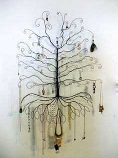 Jewelry Tree Display Super Colossal Wall Mount by ClaudinesLimited from ClaudinesLimited on Etsy. Wire Crafts, Bead Crafts, Diy And Crafts, Arts And Crafts, Jewellery Storage, Jewellery Display, Jewelry Organization, Jewellery Holder, Jewelry Hanger
