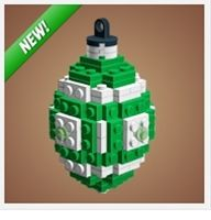 Instructions to make Christmas ornaments from Legos. Includes Star Wars ones!