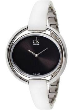 Calvin Klein - Reloj de pulsera analógico para mujer cuarzo acero inoxidable K4 F2 N111 #fashion #moda #circulogpr #primavera #guapa #happy #love #iloveyou #smilling #style #fashioninspiration #beautiful #accesorios #reloj
