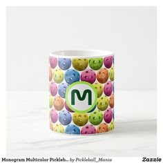 Monogram Multicolor Pickleball Coffee Mug