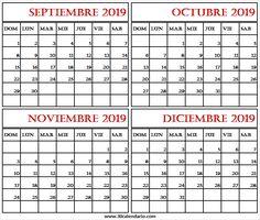 Calendario De Octubre 2019 Peru.Calendario Por Mes Calendariop On Pinterest