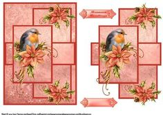 Robin Redbreast Card Front And Topper on Craftsuprint designed by June Harrop - This sheet is quick and easy to make and creates a lovely card.You can decorate with your own embellishments,glitters,gems etc. - Now available for download!