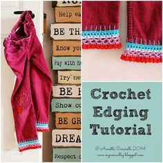 My Rose Valley: Crochet Edging Tutorial
