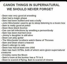 Canons of Supernatural! Crowley owns the moon! Sam Dean, Dean And Cas, Misha Collins, Emmanuelle Vaugier, Nos4a2, Bubbline, Supernatural Memes, Spn Memes, Comic