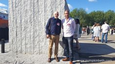 Garden designer Gary Breeze and plantsman Chris Holland pictured with their Gold Medal winning Fresh Garden - The Marble and Granite Centre - Antithesis of Sarcophagi. This garden was chosen by the RHS judges as the Best Fresh Garden at The RHS Chelsea Flower Show 2016. The Marble and Granite Centre - Antithesis of Sarcophagi was built by Chris Holland Landscapes, and sponsored by The Marble and Granite Centre Ltd.