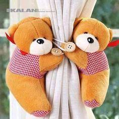 Segura cortina de ursinho