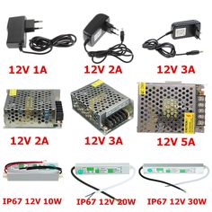 AC DC Adaptador de 12 V 1A 2A 3A 5A LED de Alimentación Tira alimentación IP67 Impermeable Del Conductor Del LED 12 V Transformador de Baja Tensión Para El Hogar decoración