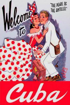Carnaval en la Havana 1941 Cuba Travel Vacation Holiday A3 Art Poster Print