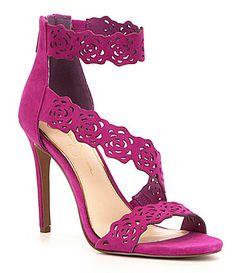 Jessica Simpson Geela Suede Floral Cutout Ankle Strap Dress Sandals #Dillards